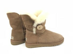 0adf09a1eb8 Details about Ugg Australia Bailey Button Classic Short Chestnut 5803  Women's sheepskin Boots