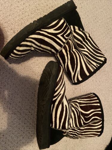 Zebra Print Ugg Boots Size 7