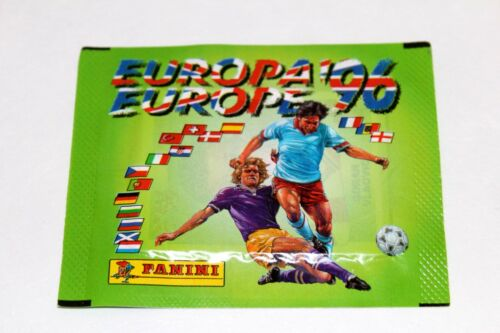 Panini EM EC Euro 96 1996 1 x TÜTE PACKET BUSTINA SOBRE RARE GERMAN VERSION