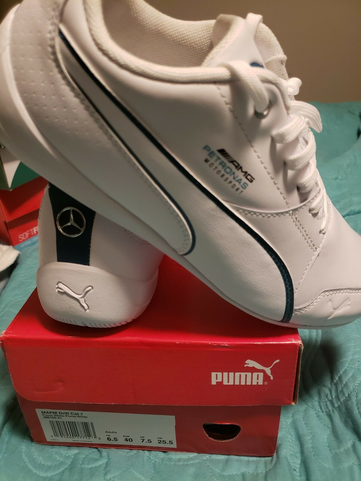 lower price with 330c1 2568c Puma White MAPM Cat 7 men s size 7.5 Drift Benz oomfdu7167-Athletic Shoes