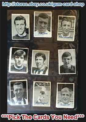 *PLEASE SELECT CARDS* A/&BC 1966 FOOTBALLER GOOD SINGLES//CUT
