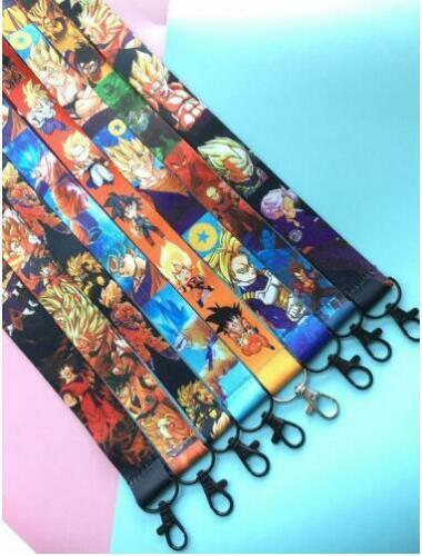10pcs Japanese anime Neck Strap Lanyard Key chain Phone Card Badge Holder