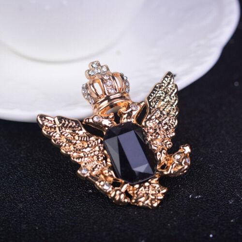 Men Vintage Crystal Angel Collar Pin Brooch for T-Shirt// Suit Gold/&Black