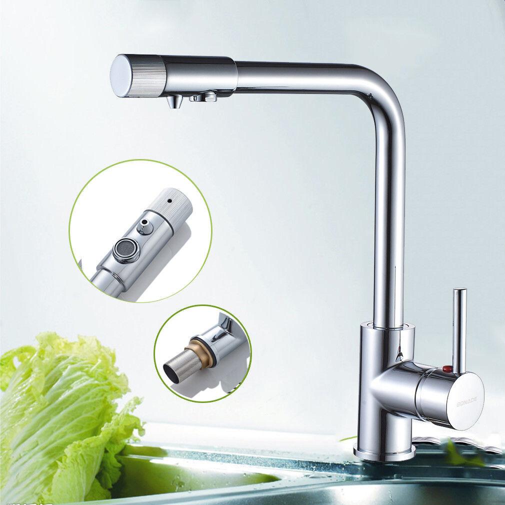 3 Weg Wasserfilter Küche Wasserhahn Küchenarmatur Spültischarmatur Mischbatterie