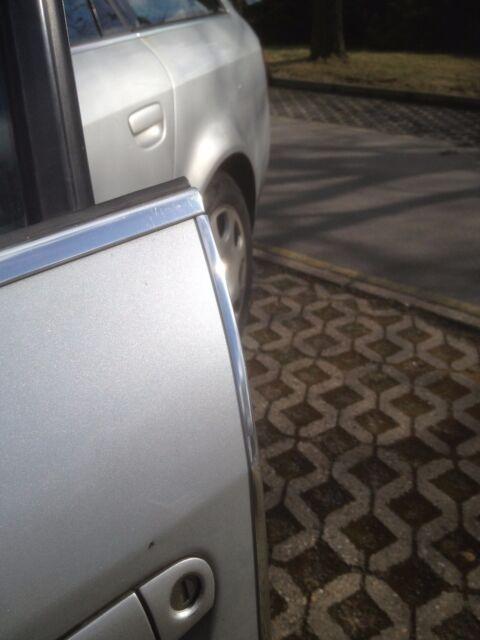Chrom Türkantenschutz Kanten Schutz mit 3M Kleber 2 Stück Citroën XM 100Cm