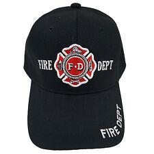 FIRE DEPT Black Baseball Fashion Cap