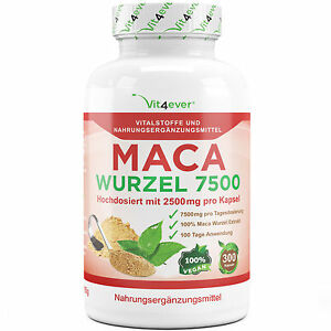 MACA-300-Kapseln-vegan-Hochdosiert-2500-mg-Muskelaufbau-Potenz-Energie-Sex