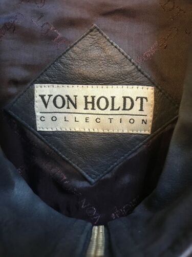 Complet Manteau Holdt Zip Von Cuir Noir Bouton Collection Daim Up En XL Veste Femme vxfUx8