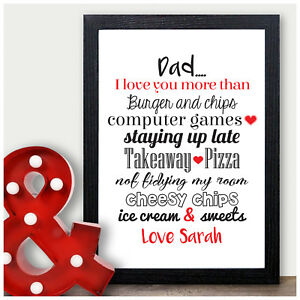 Image Is Loading Dad I Love You Birthday Gifts Personalised