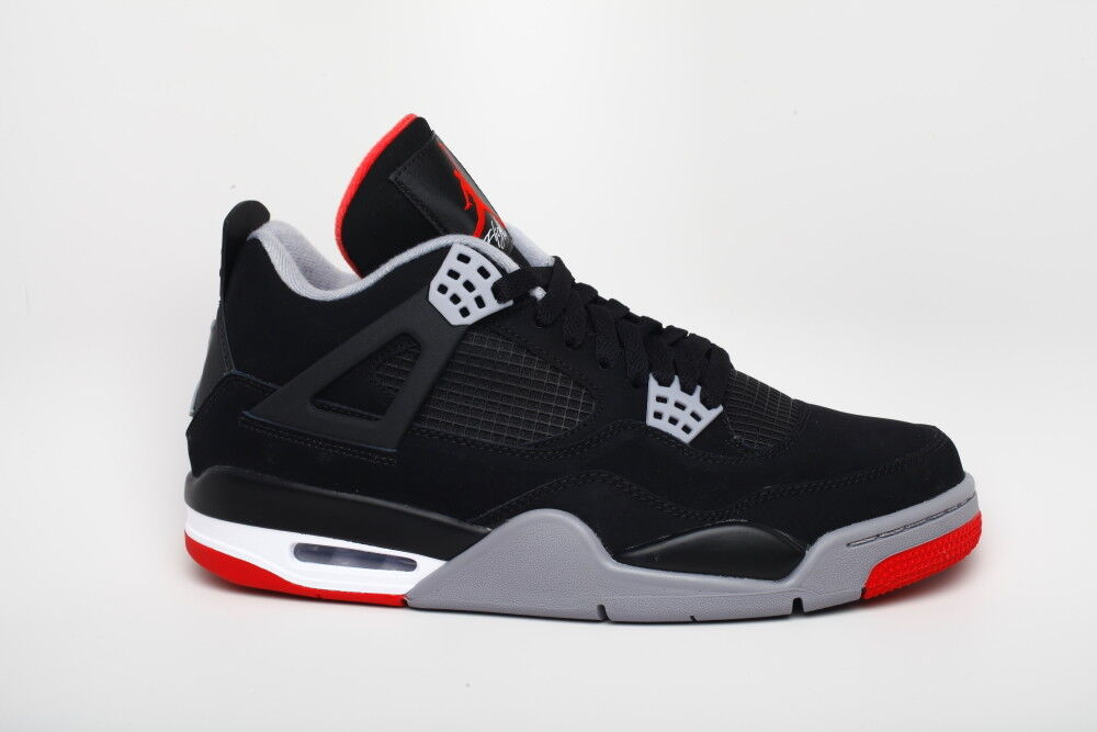 Nike Air Jordan 4 IV Black Red Bred 308497 089 Air Max sz 13