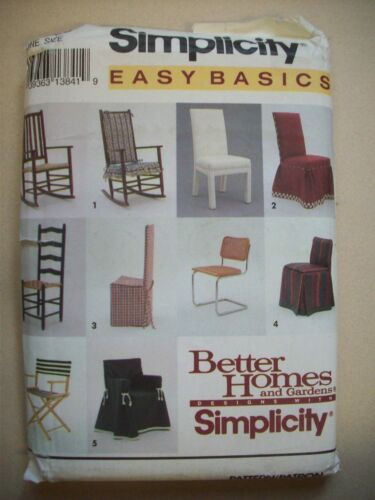 Easy Basic Lawn rocking dining  Chair covers Pattern 8329 UNCUT