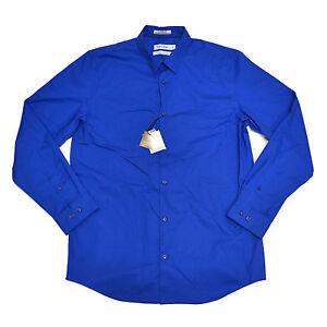 Calvin Klein Dress Shirt Button Up Classic Fit Point