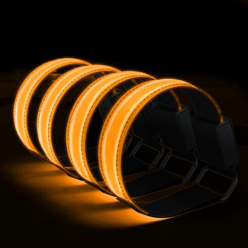 4x LED Leuchtarmband Joggen Reflektorband Blinklicht Sport Armband Orange