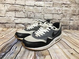Details about NIKE Air Max 1 Essential Running Sail Black Dark Grey 537383 124 Mens Size 9