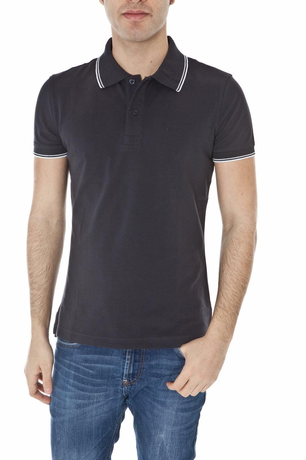 Armani Jeans AJ Polo hemd baumwolle Man Blau 06M30BT 95 Sz L MAKE OFFER