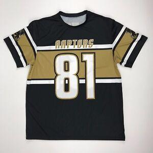 New-Alleson-Athletic-Men-039-s-L-Raptors-WR-Tienken-Gameday-Jersey-Black