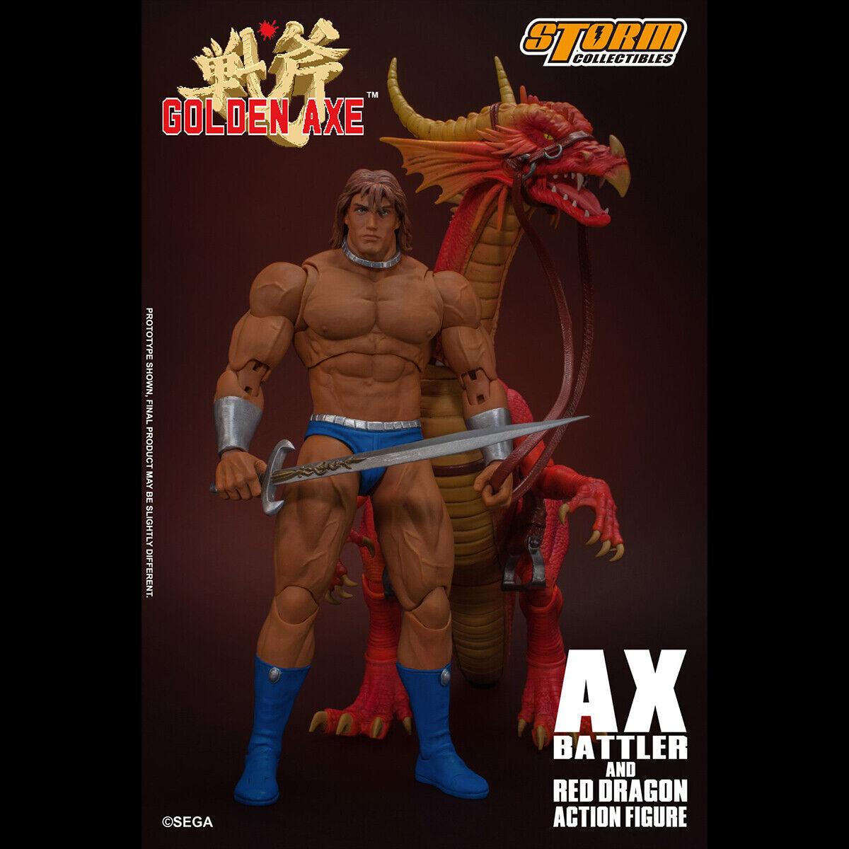 Storm toys 1 12 SGGA01 Golden Axe AX Battler & rot Dragon Figure Collectible New