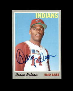 Dave Nelson Hand Signed 1970 Topps Cleveland Indians Autograph