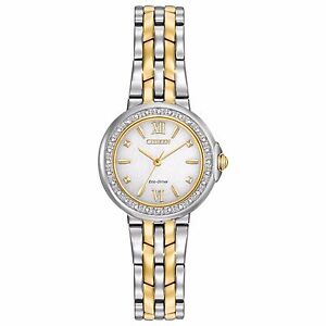 Citizen Eco-Drive Diamond Collection Women's Two-Tone 28mm Watch EM0444-56A