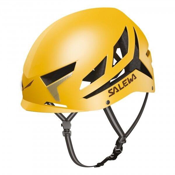 Helm Mit Klettersteig H Bergsteigen SALEWA VAYU Helmet yellow L   XL