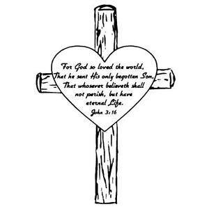 image is loading john 3 16 in heart on a cross