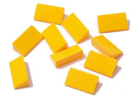 a17 10 x Mini Dachstein 30 degrés 1x2x2//3 clair Orange//85984 NEUF Lego