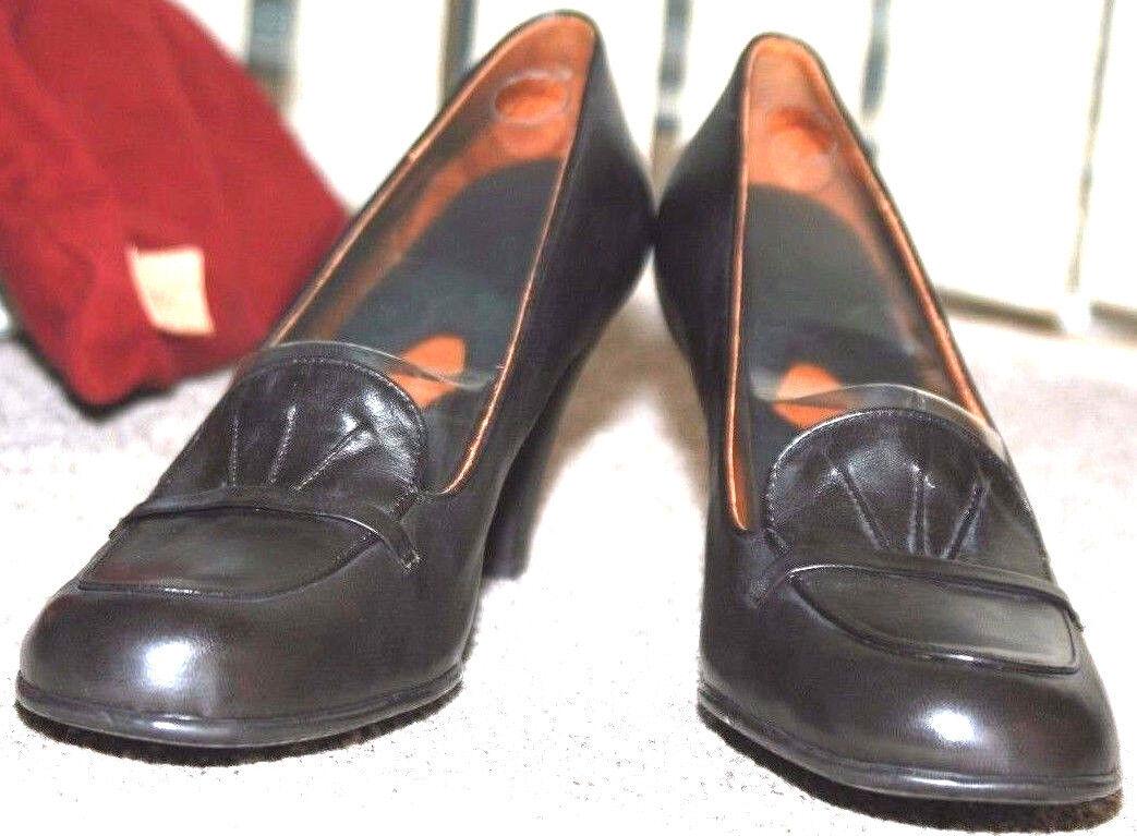 Damenschuhe Schuhes BOLO 'Ebano' Leder Everyday Business Pumps 11 3.5