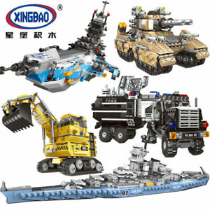 Xingbao-Building-Blocks-Warship-Military-Future-Dreamer-Giant-Excavator-Police