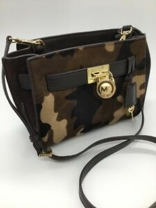 ec06edbba90b Image is loading Michael-Kors-Small-CALF-HAIR-CAMO-Hamilton-Messenger-