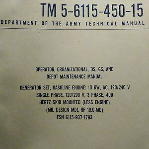 Details about Onan Studebaker Model 10GFG-408XR/5885A HF-10 0 MD 10KW  Generator Service Manual