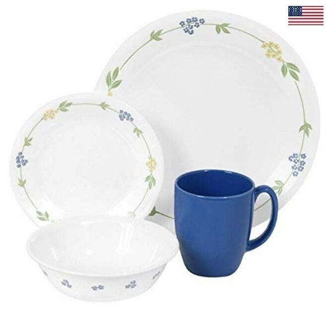 Corelle Livingware Secret Garden 16-pièces Vitrelle Dinnerware Set Service pour 4