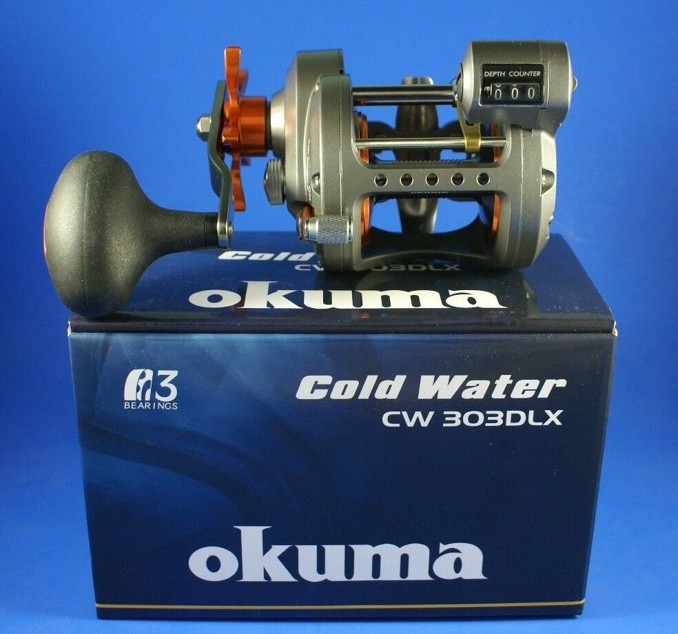 Okuma Cold Counter Water CW-303DLX Left Hand Line Counter Cold Fishing Reel d8916d