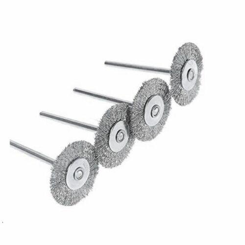 "10Pcs 1/"" Stainless Steel Wire Brush Rotary Die Grinder Removal Wheel Dremel Tool"