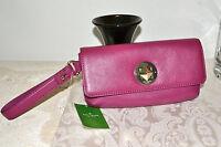NWT $198 KATE SPADE Evan Chrystie Street Wristlet Clutch Bag Case- Moody Plum