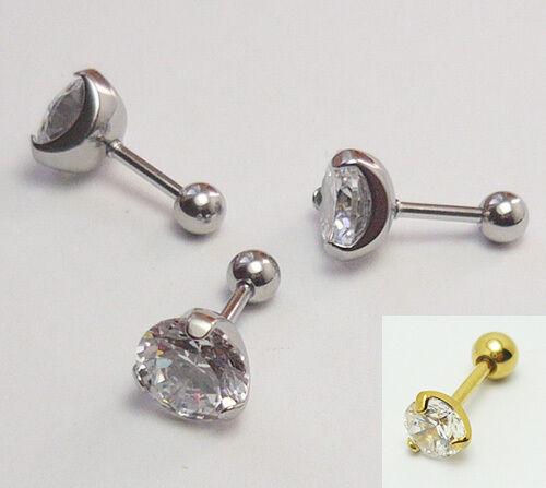 Piercing oreja labret pendientes Helix Tragus oreja circonita piercing acero inoxidable