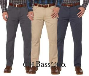 New G H Bass Men S Brushed Twill Stretch 5 Pocket Flex