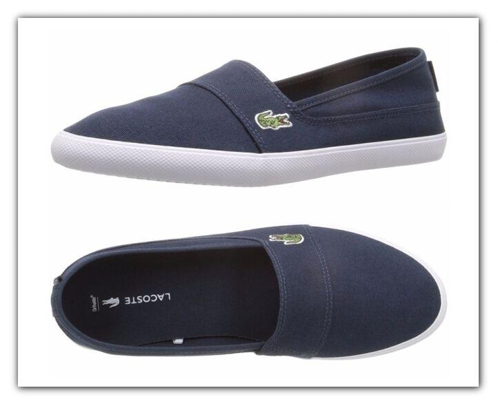 Lacoste Marice BL 2 Navy Slip On Schuhes Damenschuhe Casual Sneake 7-32SPW0142003 NEU
