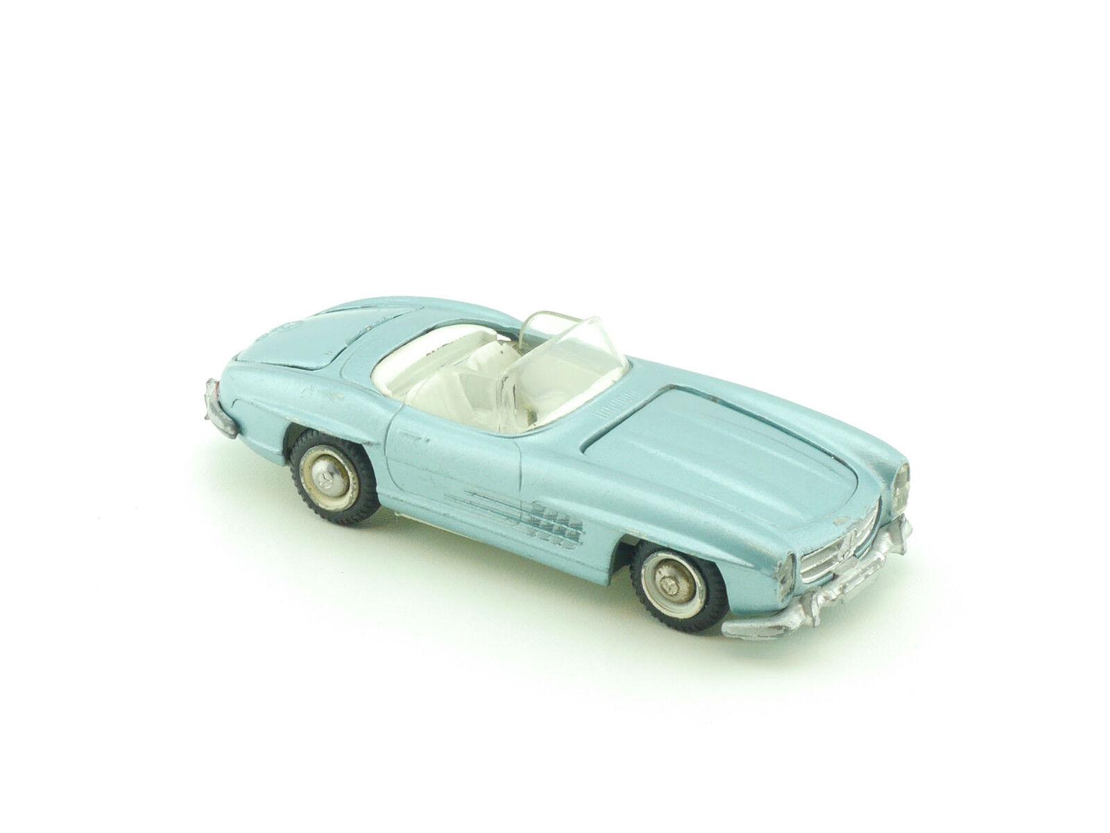 TEKNO 924 MERCEDES MB 300 SL W 198 Roadster Cabriolet Bleu Clair Métallisé 1411-30-27