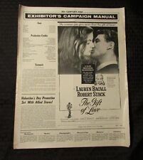 1958 The Gift of Love PRESS BOOK VG 13x16 8 pgs Lauren Bacall, Robert Stack