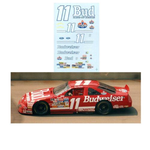 Bill Elliott 1992 #11 Budweiser 1/64 scale decal Afx Tyco Lifelike Autoworld