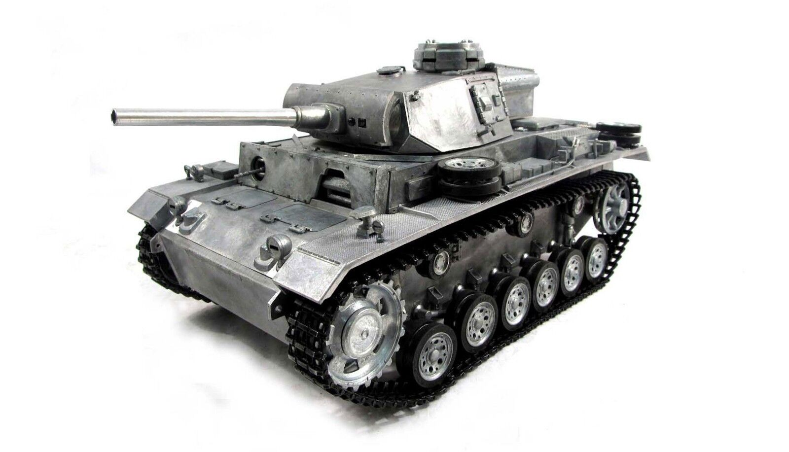 RC Panzer III, metallo pieno RTR-BB-True Audio - 2,4ghz NUOVO