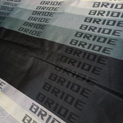 Black JDM Bride Car Seat Fabric Cloth Racing Seats Cover Interior Cloth 2M×1.6M