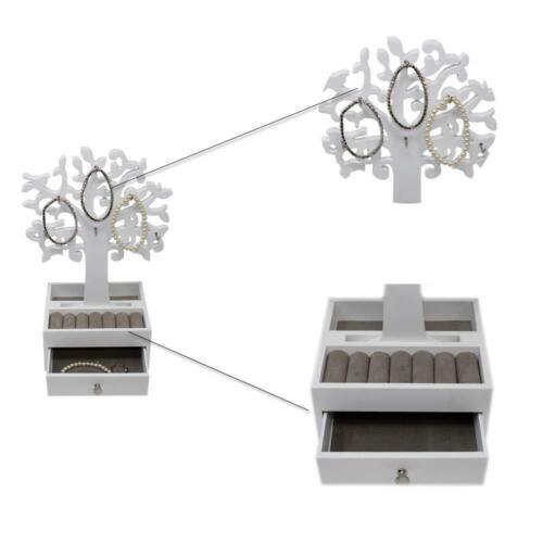 Joyas recuadro abnehmbahrer joyas árbol joyas soporte joyas archivador anillo soporte