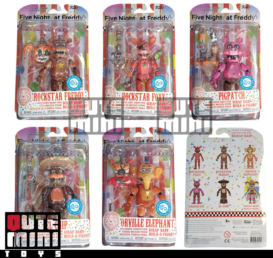 FUNKO FIVE NIGHTS AT FREDDY'S PIZZERIA SIMULATOR 5  ACTION FIGURE SET OF 5
