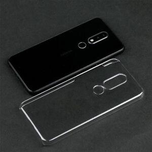 new styles da32c 0dfa3 Details about For Nokia 6.1Plus 5.1Plus Nokia X6 Crystal Clear Transparent  hard case DIY cover