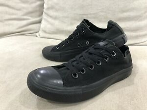 Details about CONVERSE All Black Chuck Taylor All Star Low Tops US 5.5 Mens 7.5 Womens [CS2