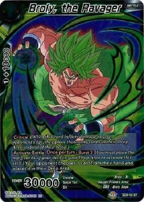 Broly Evil Unleashed SD8-01 ST FOIL Dragon Ball Super TCG Near Mint