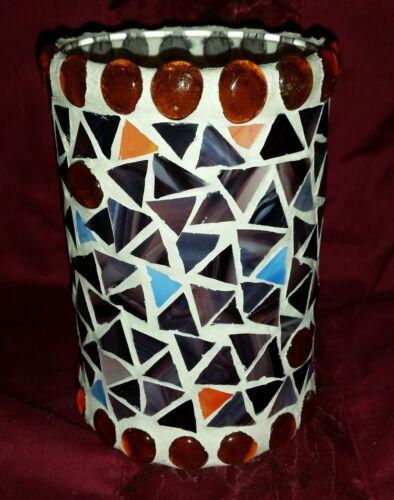 Windlicht * Großes Mosaik Handarbeit * Glaswindlicht Kerzenhalter