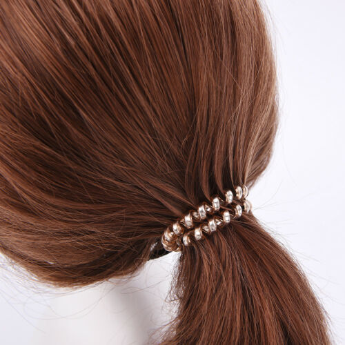 5x//10x Elastic Rubber Telephone Wire Hair Rope Hair Band Ponytail Holder Hot .zh