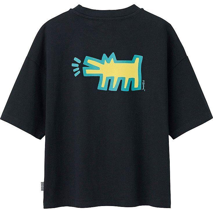 KEITH HARING x UNIQLO 'Radiant Baby   Dog' SPRZ NY damen Art T-Shirt M Blk NWT